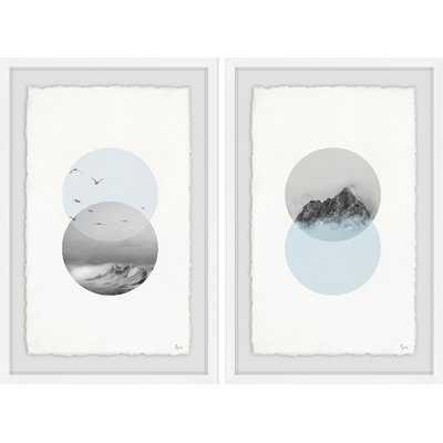 'Interchangeable Diptych' 2 Piece Framed Graphic Art Print Set - Wayfair
