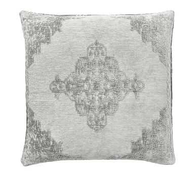 """Maddie Textured Pillow Cover, 22"""", Smoke - Pottery Barn"""