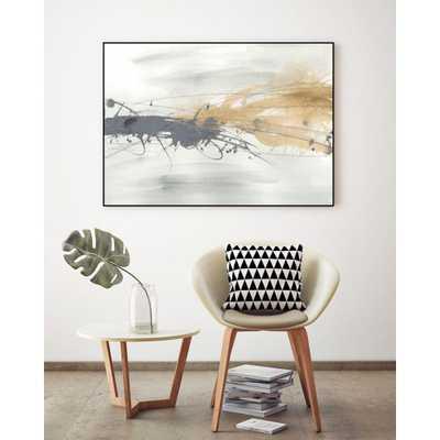"CLICART 24 in. x 32 in. ""Kinetic Horizon I"" by June Erica Vess Framed Wall Art, Metallics - Home Depot"