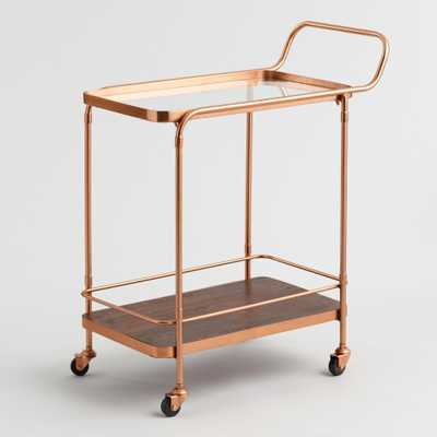 Wood and Copper Bar Cart by World Market - World Market/Cost Plus