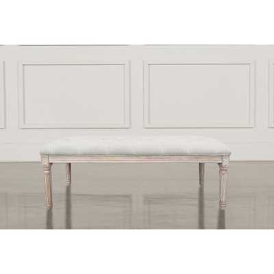 Home Accents Alliance Christie's XL Beige French Bench - Home Depot