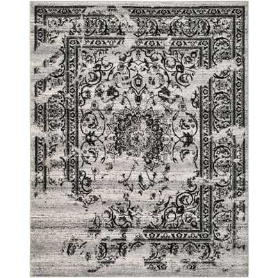 Adirondack Silver/Black 10 ft. x 14 ft. Area Rug - Home Depot