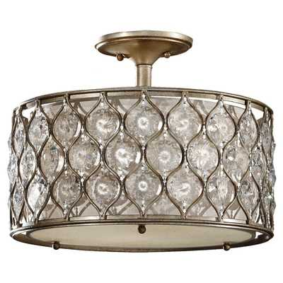 Feiss Lucia 3-Light Burnished Silver Semi-Flush Mount - Home Depot