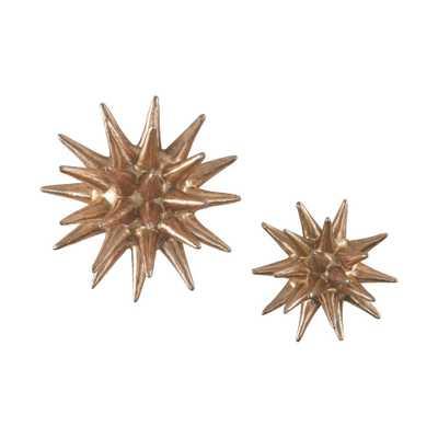 Parsec Copper (Brown) Composite Wall Decor (Set of 2) - Home Depot