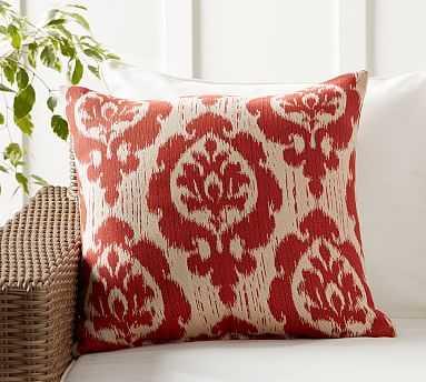 "Sunbrella(R) Sidwel Ikat Jacquard Indoor/Outdoor Pillow, 22"", Warm Multi - Pottery Barn"