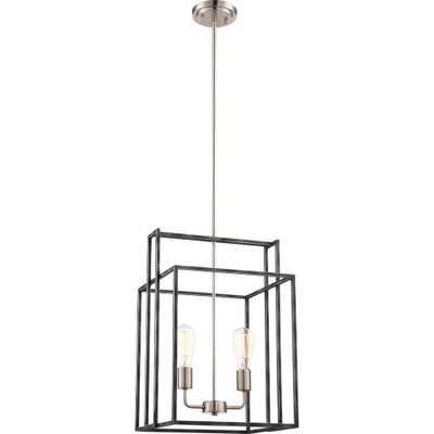 Cambridge 2-Light Iron Black Pendant - Home Depot