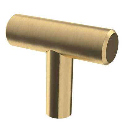 1-5/8 in. Champagne Bronze Steel Bar Cabinet Knob - Home Depot