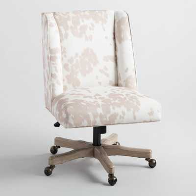 Beige Cowhide Ava Upholstered Office Chair by World Market - World Market/Cost Plus