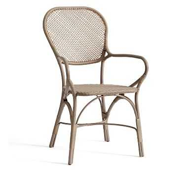 Brea All-Weather Wicker Bistro Dining Chair - Pottery Barn