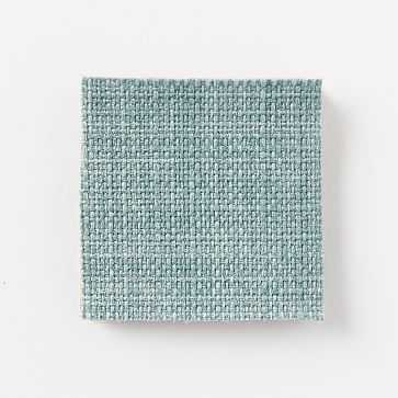 Fabric By The Yard, Heathered Weave, Eucalyptus - West Elm