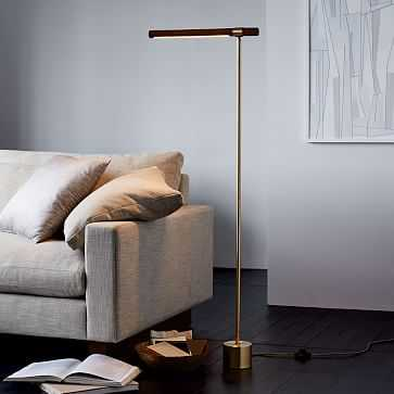 Linear Wood LED Floor Lamp - West Elm