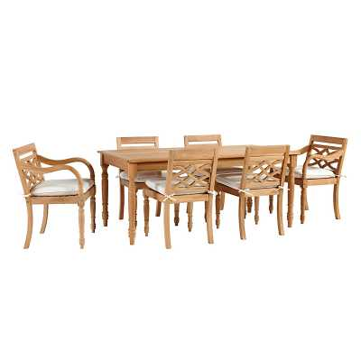 Ballard Designs Ceylon Teak 7-Piece Rectangular Dining Set - Ballard Designs