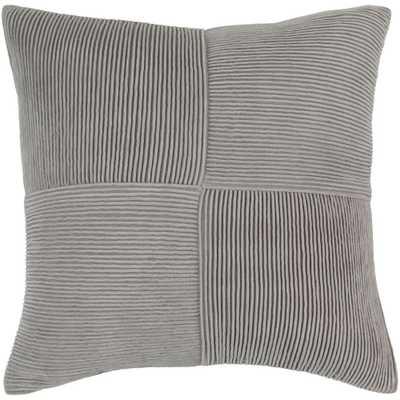 Leake Poly Euro Pillow, Grays - Home Depot