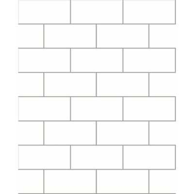 56.4 sq. ft. Galley Off-White Subway Tile Wallpaper, White - Home Depot