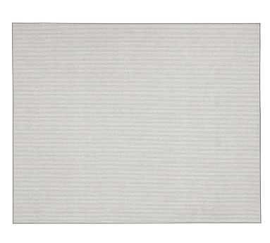 Billiard Custom Mini Stripe Wool Blend Rug, Gray, 8 x 7' - Pottery Barn