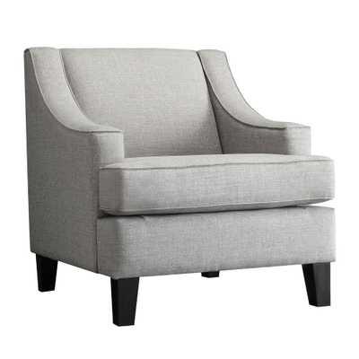 Watson Grey Linen Arm Chair, Upholstered/Grey - Home Depot