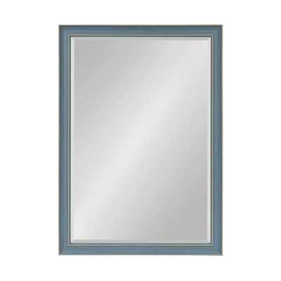 Harvest Rectangle Blue Wall Mirror - Home Depot