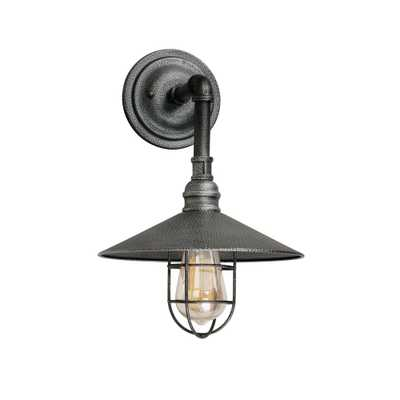 1-Light Industrial Gray Outdoor Wall Sconce - Home Depot