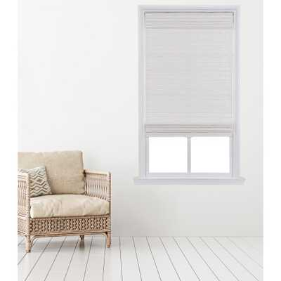 Home Basics Cut-to-Width White Carbonized Cordless Bamboo Roman Shade - 27 in. W x 64 in. L - Home Depot