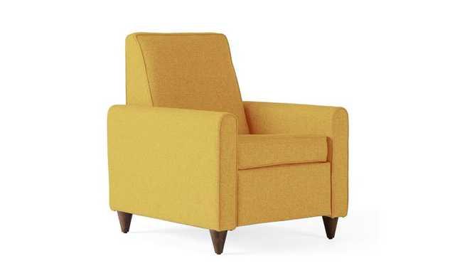 Yellow Ellison Mid Century Modern Recliner - Taylor Golden - Mocha - Joybird