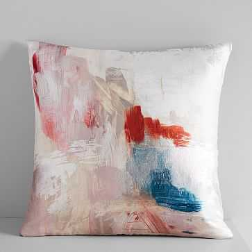 """Abstract Blossom Brocade Pillow Cover, Pink Blush, 20""""x20"""" - West Elm"""