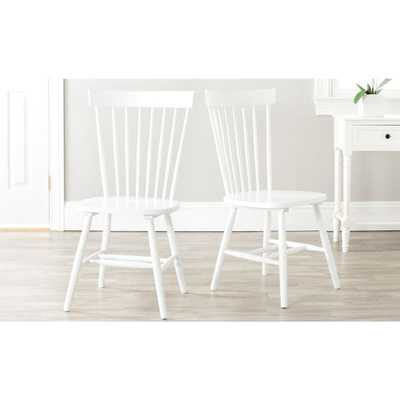 Riley White Wood Dining Chair (Set of 2) - Home Depot