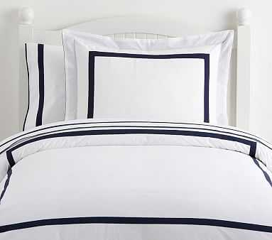 Decorator Duvet Cover, Twin, Navy - Pottery Barn Kids