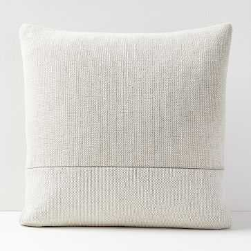 Cotton Canvas Pillow Cover & Down-Insert, Stone, - West Elm
