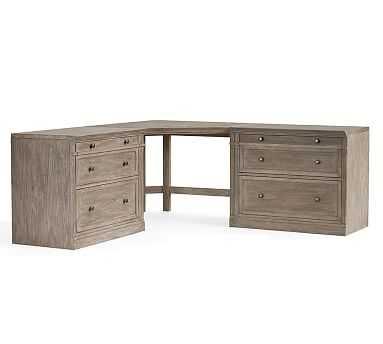 Livingston Large Corner Desk, Gray Wash - Pottery Barn