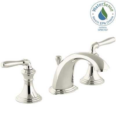 KOHLER Devonshire 8 in. Widespread 2-Handle Low-Arc Bathroom Faucet in Vibrant Polished Nickel - Home Depot