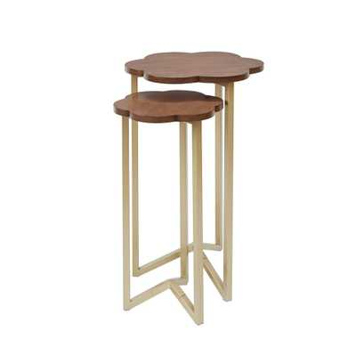 Daphne Gold and Brown Nesting End Tables - Home Depot