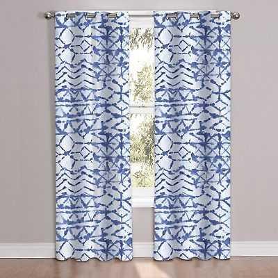 "McKenzie Patterned Window Curtain Panel Pair (84""x38"") - 84 inch x 38 inch - eBay"