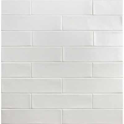 Splashback Tile Birmingham Bianco 3 in. x 12 in. 8mm Polished Ceramic Subway Tile (5.38 sq. ft. / box), White - Home Depot