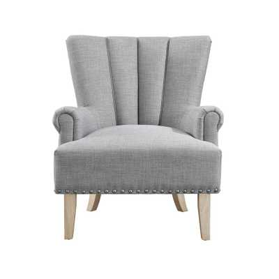 Belvedere Gray Accent Chair, Gray Finish - Home Depot