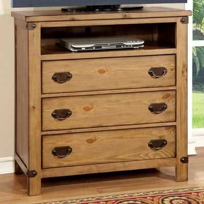 "Pacifica Burnished 38"" TV Stand - Wayfair"