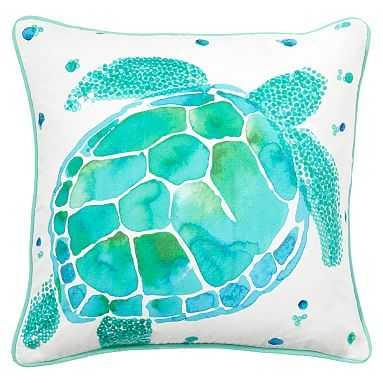 Sea Creature Sea Turtle Pillow Cover & Insert - Pottery Barn Teen