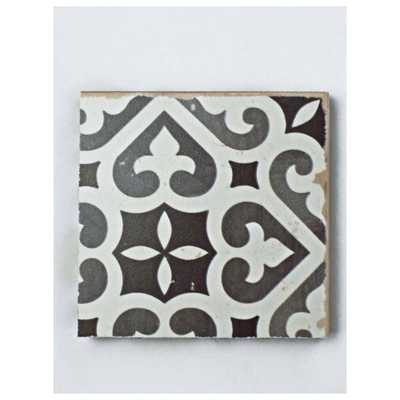 Merola Tile Faenza Nero Ceramic Floor and Wall Tile - 3 in. x 4 in. Tile Sample, Black And White/Low Sheen - Home Depot