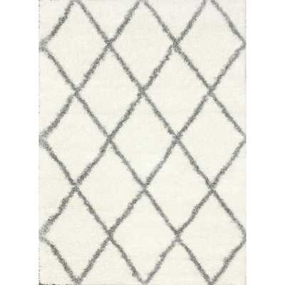 Diamond Shag Grey 8 ft. x 10 ft. Area Rug - Home Depot
