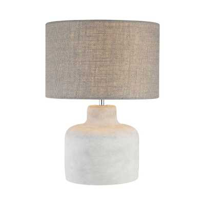Titan Lighting Rockport 17 in. Polished Concrete Table Lamp - Home Depot