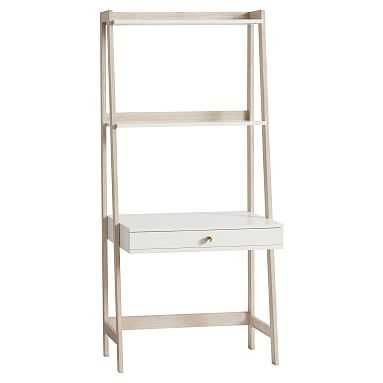 Highland Wall Desk, Simply White/Water-Based Weathered White - Pottery Barn Teen