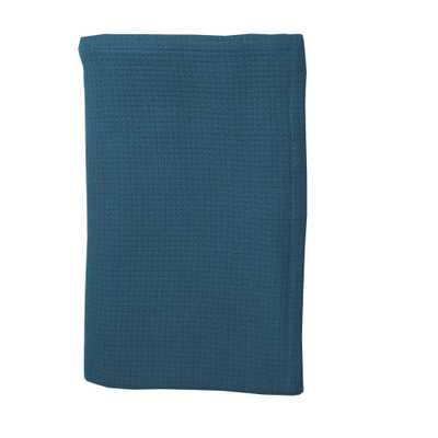 Teal (Blue) Cotton Weave Blanket and Throw - Home Depot