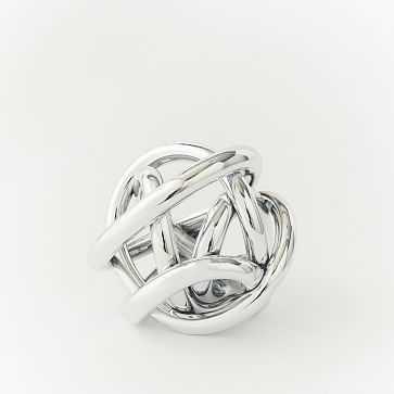 Metallic Glass Knot, Silver, Medium-individual - West Elm