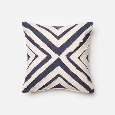 """PILLOWS - BLUE / WHITE - 18"""" X 18"""" Cover Only - Loma Threads"""