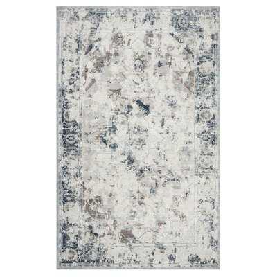 Brianne Blue/Gray Area Rug - Wayfair