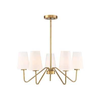 Filament Design 5-Light Natural Brass Chandelier - Home Depot