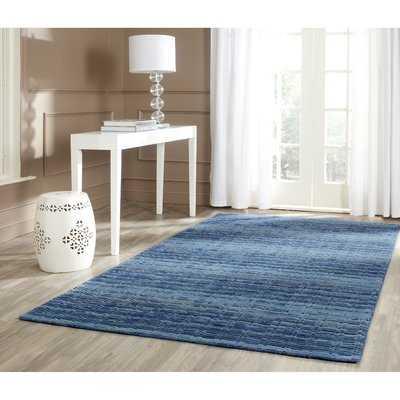 Sherri Hand-Woven Wool Blue Area Rug - Birch Lane