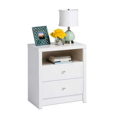 Calla 2-Drawer White Nightstand - Home Depot