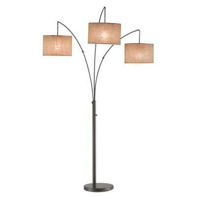 Adesso Trinity 82 in. Antique Bronze Arc Lamp - Home Depot