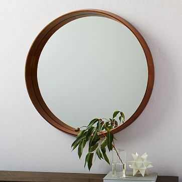 Wood Frame Ledge Round Wall Mirror - West Elm