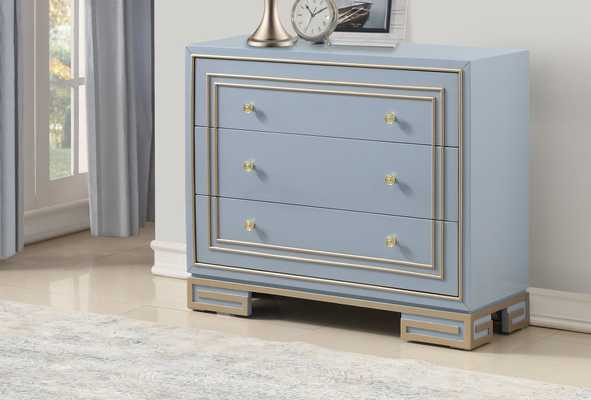 Everly Quinn Mong 3 Drawer Accent Chest: Periwinkle - eBay